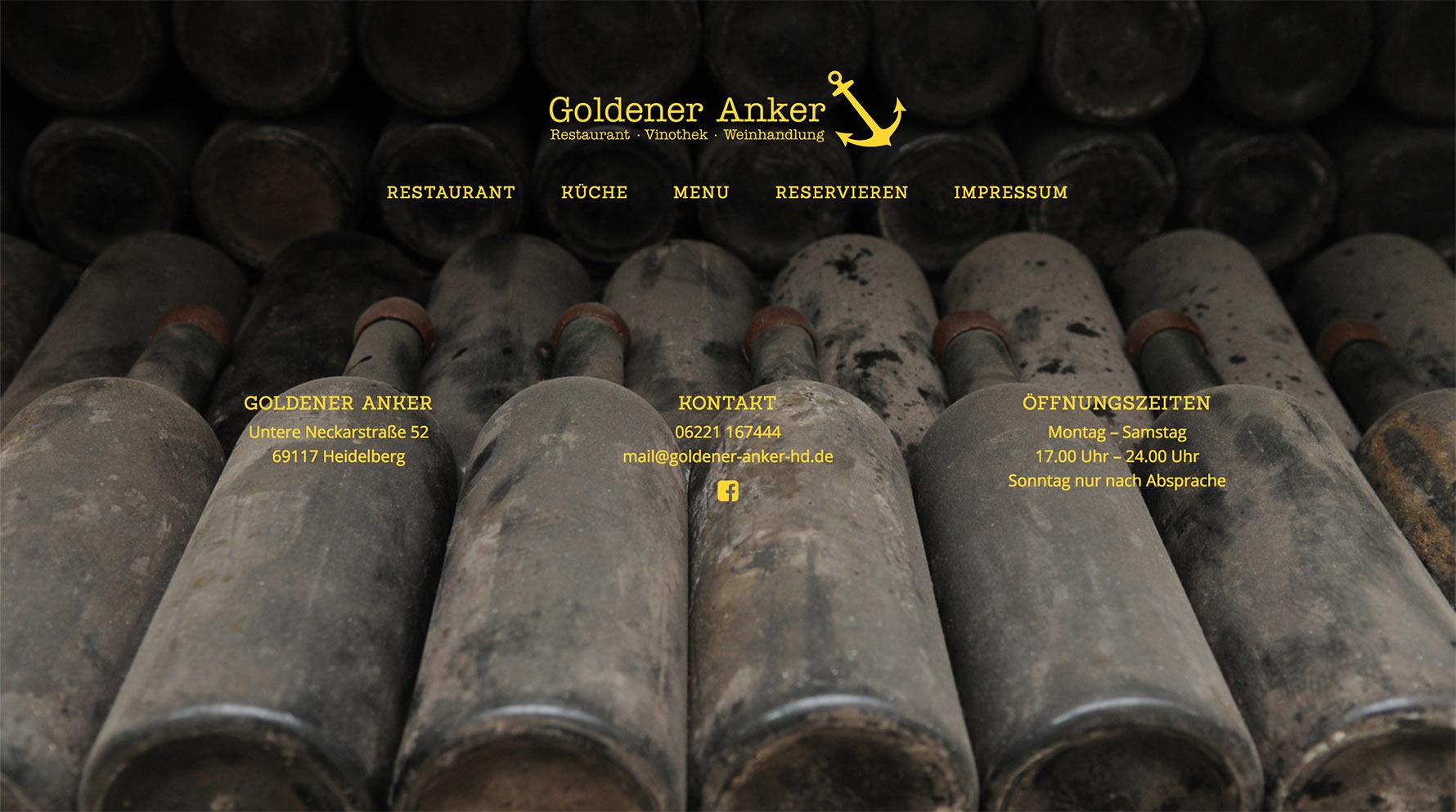 Goldener Anker Heidelberg Website